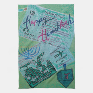 Hanukkah Happiness Tea Towel
