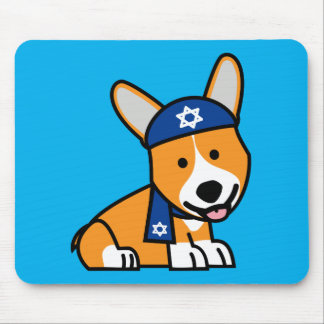 Hanukkah Happy Jewish Corgi Corgis Dog Puppy Mouse Mat