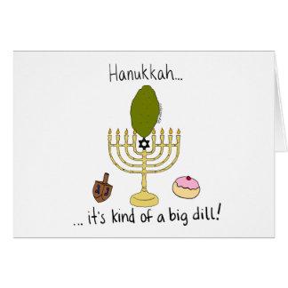 Hanukkah, it's kind of a big dill! card