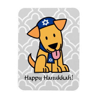 Hanukkah Jewish Labrador Retriever Puppy Dog Magnet