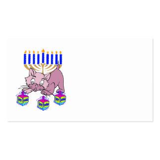 Hanukkah Kitty Business Cards