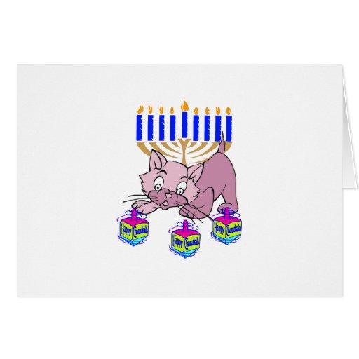 Hanukkah Kitty Card