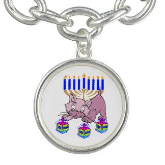 Hanukkah Kitty Charm Bracelet