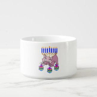 Hanukkah Kitty Chili Bowl