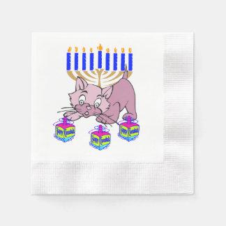 Hanukkah Kitty Disposable Napkin