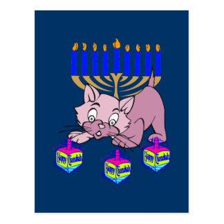 Hanukkah Kitty Postcard