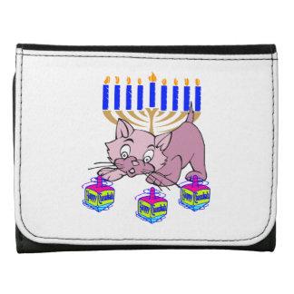 Hanukkah Kitty Tri-fold Wallet