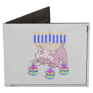 Hanukkah Kitty Tyvek® Billfold Wallet