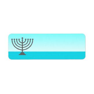 Hanukkah Label Menorah Return Address Label