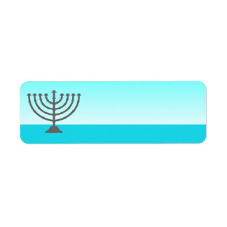 Hanukkah Label Menorah Return Address Label
