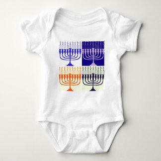 Hanukkah Menorah Baby Bodysuit