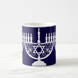 Hanukkah Menorah Basic White Mug