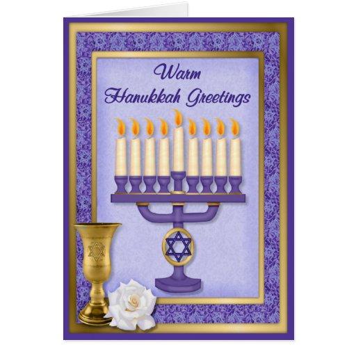 Hanukkah Menorah Blessings Cards
