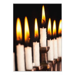 Hanukkah Menorah Burning White Candles Chanukah Invites