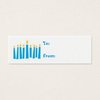 Hanukkah Menorah Candles Gift Tags Mini Business Card