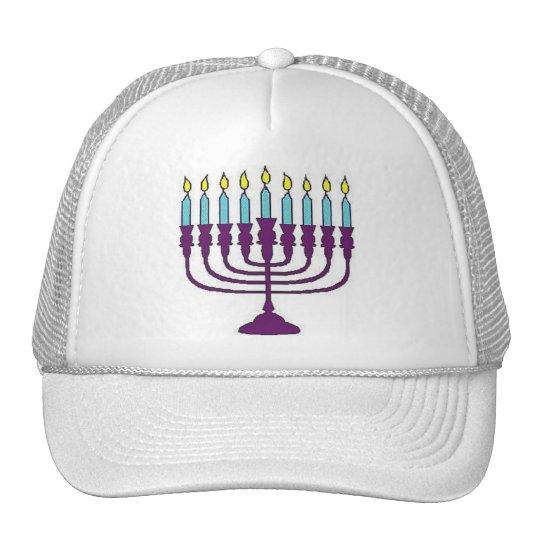 Hanukkah Menorah Cap