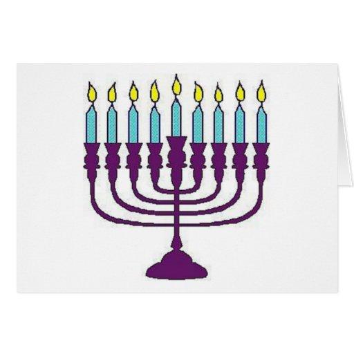 Hanukkah Menorah Greeting Cards