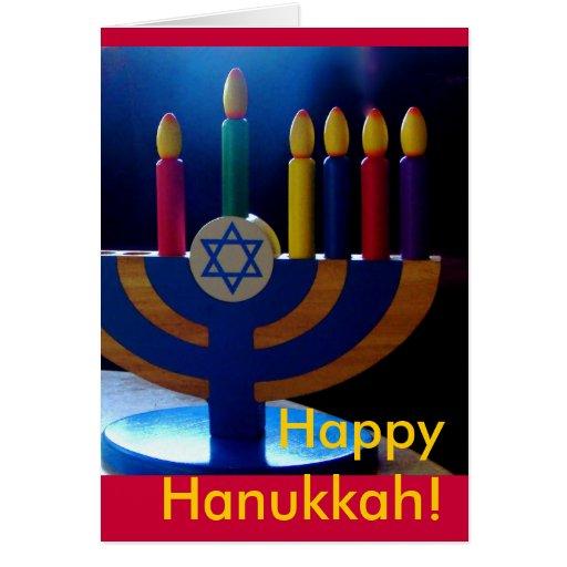 Hanukkah Menorah Card-Colors
