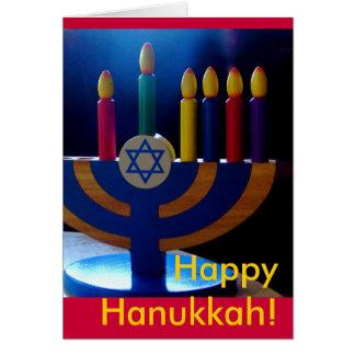 Hanukkah Menorah Card-Colours Card