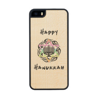 Hanukkah Menorah Carved® Maple iPhone 5 Case