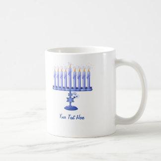 Hanukkah Menorah (customizable) Mugs