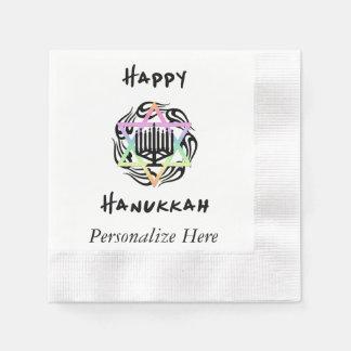Hanukkah Menorah Disposable Napkin