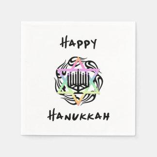 Hanukkah Menorah Disposable Serviette