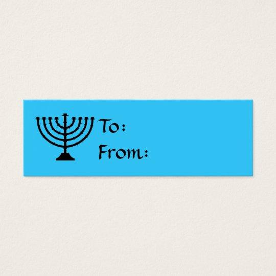 Hanukkah Menorah Gift Tags