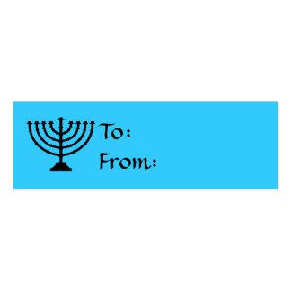 Hanukkah Menorah Gift Tags Business Card Templates