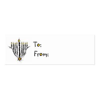 Hanukkah Menorah Gift Tags Pack Of Skinny Business Cards