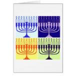 Hanukkah Menorah Greeting Card