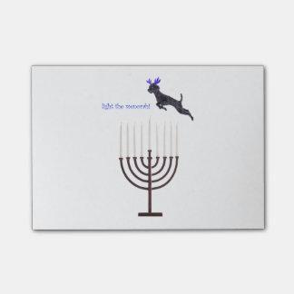 Hanukkah Menorah Poodle Dog Reindeer Candles Post-it® Notes