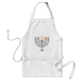 Hanukkah menorah standard apron