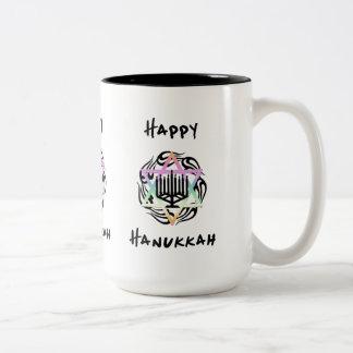 Hanukkah Menorah Two-Tone Mug