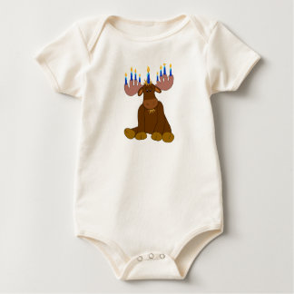 Hanukkah Moose Baby Shirt