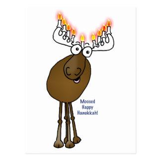 Hanukkah moose! postcard
