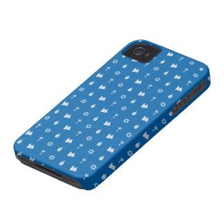 Hanukkah Motif blue BlackBerry Curve iPhone 4 Case-Mate Cases