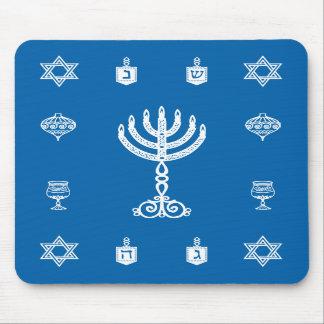 Hanukkah Motif blue Mousepad 2