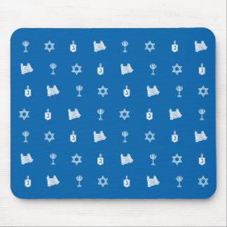 Hanukkah Motif blue Mousepad