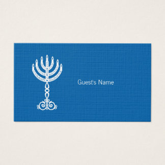 Hanukkah Motif blue Place Card