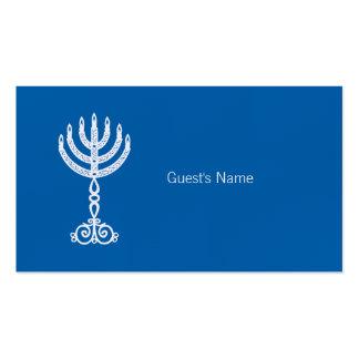 Hanukkah Motif blue Place Card Business Card