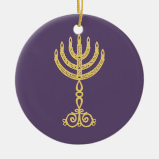 Hanukkah Motif purple Ornament 2