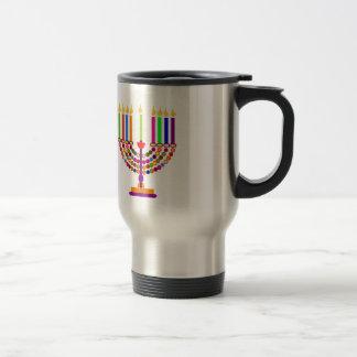 hanukkah stainless steel travel mug