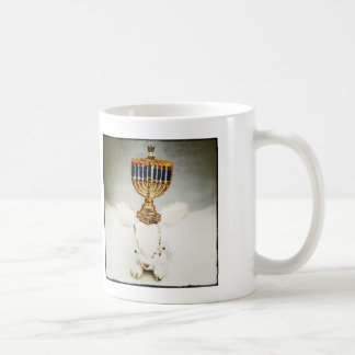 Hanukkah Mug - Aldo a Rabbit and Menorah
