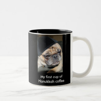Hanukkah mug with pug
