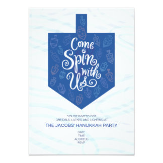 Hanukkah Party Invitation / Come Spin With Us