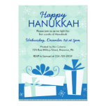 Hanukkah Party Invitations with Gifts