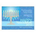 Hanukkah Party Invitations with Menorah