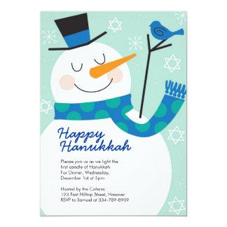 Hanukkah Party Invitations with Snowman