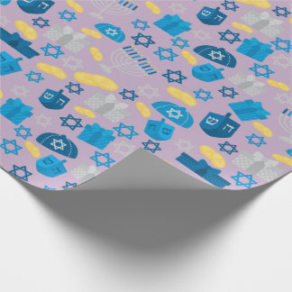 Hanukkah Pattern Wrapping Paper